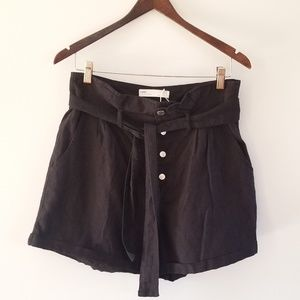 Zara Paperbag High Waisted Shorts sz M
